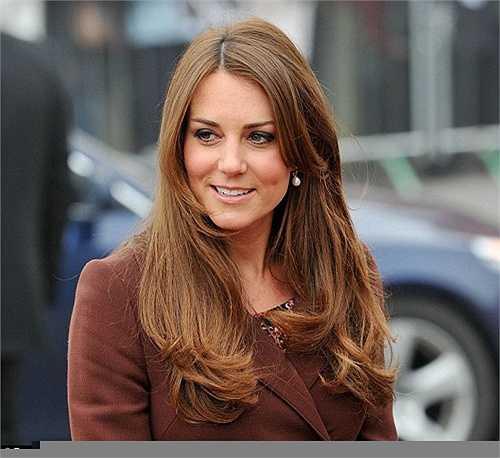 Mái tóc nâu mượt mà của công nương Kate Middleton
