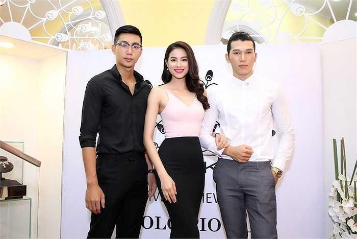 Đi cùng Phạm Hương là hai người bạn thân Ngọc Tình, Hữu Long.