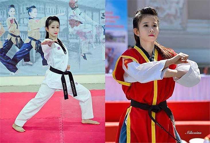 """Đến SEA Games 27 (Myanmar 2013), """"hotgirl"""" 24 tuổi này đã giành được HCV đầu tiên tại Ngày hội thể thao lớn nhất Đông Nam Á ở nội dung biểu diễn quyền thuật đồng đội nữ"""
