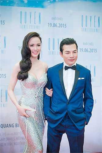 Ngắm Vũ Ngọc Anh quyến rũ bên Trần Bảo Sơn trong lễ ra mắt phim 'Quyên' tại Hà Nội.