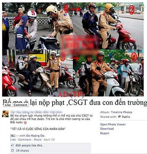 Những hình ảnh này sau đó đã được cộng đồng mạng chia sẻ nhanh chóng trên mạng xã hội Facebook và nhận được không ít lời khen ngợi.