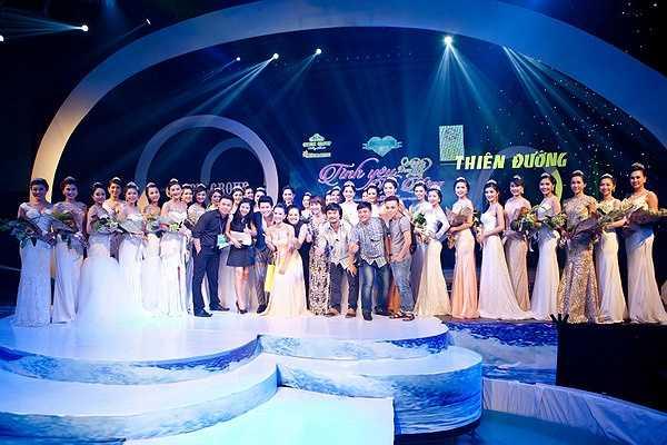 Dẫn chương trình là MC Vũ Mạnh Cường và Top 5 Người Đẹp TP.HCM 2014 Ái Diễm