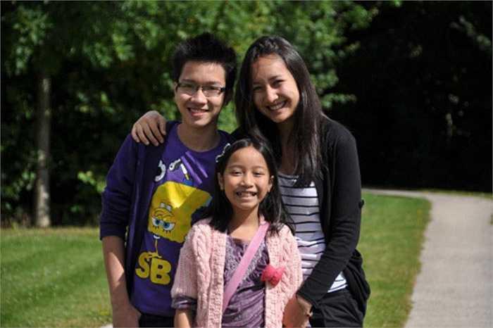 Anh Duy, cậu con trai điển trai của Mỹ Linh và Anh Quân lại có năng khiếu về thể thao.