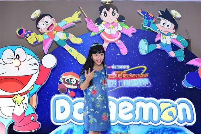 Bé Hồng Khanh - con gái NSƯT Chiều Xuân cũng có mặt.