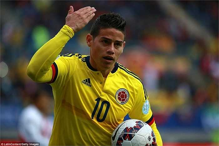 Mặc dù vậy, trận đấu với Peru cũng không phải thành công với cá nhân James Rodriguez