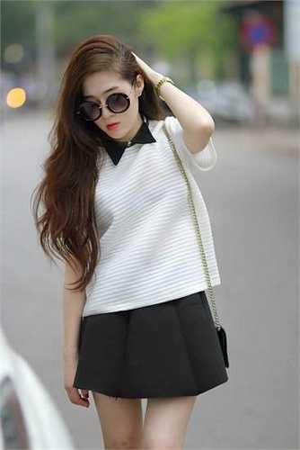 Thanh Tâm từng là sinh viên chuyên ngành Báo hình, Trường Cao đẳng Truyền hình Hà Nội.