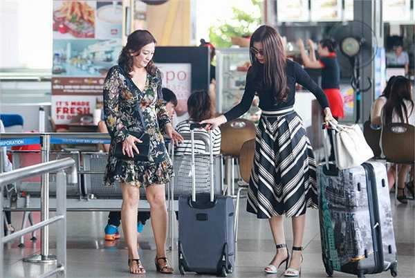 Suốt thời gian cô thi Hoa hậu, mẹ luôn động viên Diễm Trang để cô có thêm nhiều động lực.