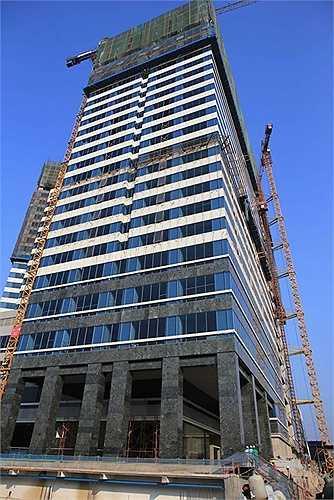 Khu căn hộ có diện tích sàn là 100.000m2 tương đương 1.000 căn hộ.