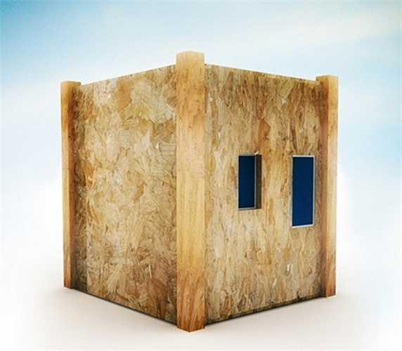 Đặc điểm nổi bật thứ hai của thiết kế thông minh này là cơ chế mở của ngôi nhà, bạn chỉ việc hạ thấp một bên để có thể tạo ra một khoảng không gian riêng biệt giữa các phòng.