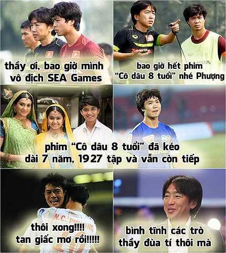 Giấc mơ vàng SEA Games của đội tuyển bóng đá Việt Nam chắc phải chờ đến khi 'Cô dâu 8 tuổi' kết thúc.