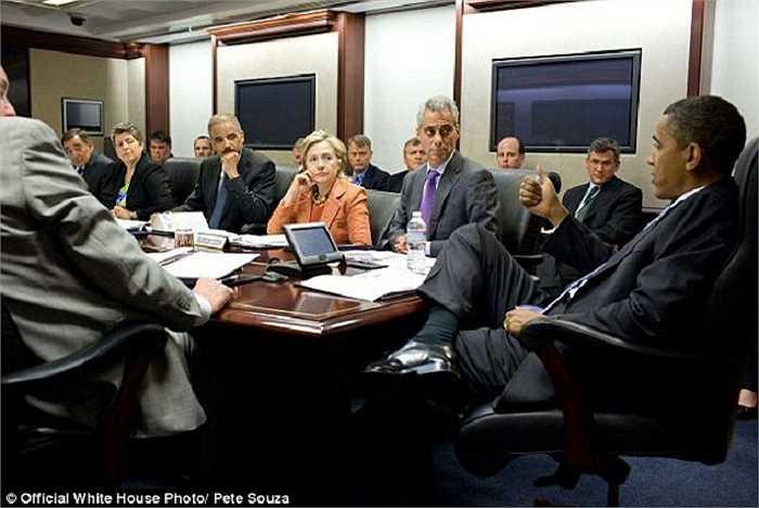 Hình ảnh nhà lãnh đạo Mỹ trong cuộc họp báo về đe doạ khủng bố sau vụ đánh bom xe ô tô ở Quảng trường Thời Đại tháng 5/2010