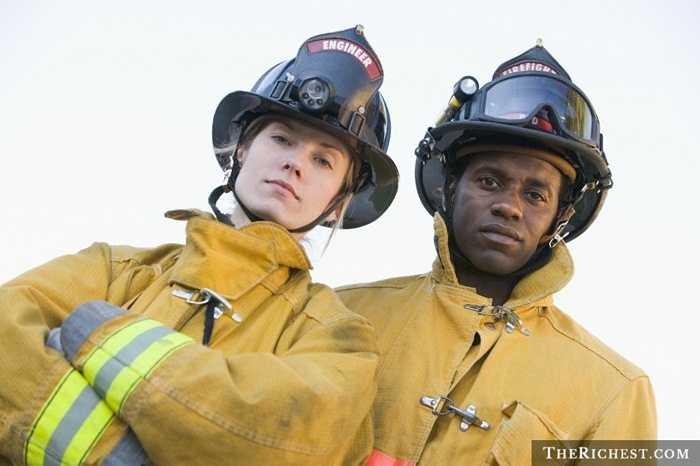 Lính cứu hỏa. Khá giống với nghề cảnh sát. Thêm vào đó, nghề lính cứu hỏa đòi hỏi sự luyện tập và ứng chiến nhanh nhạy, luôn luôn sẵn sàng cho tình huống bất ngờ.