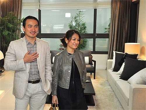 Vợ chồng nhà Chi Bảo hài lòng khi mua căn hộ sang trọng này.