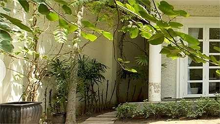 Lối thiết kế nội thất này làm cho ngôi nhà trở nên thông thoáng và có nhiều không gian hơn. Không gian cây xanh rợp bóng mát quanh nhà tạo cảm giác gần gũi với thiên nhiên.