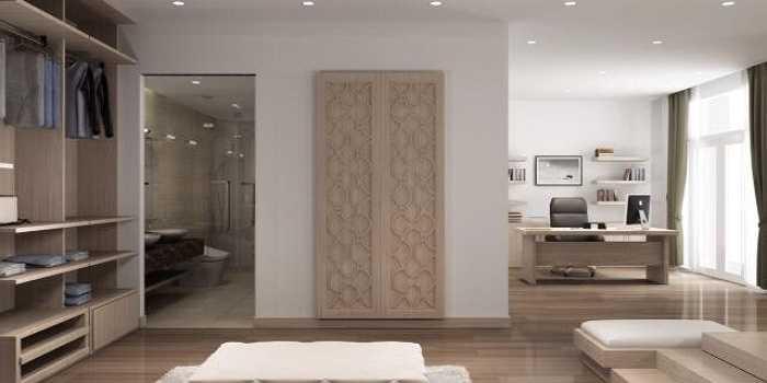 Căn nhà rất rộng, đồ đạc được thiết kế đẹp mắt, sang trọng.