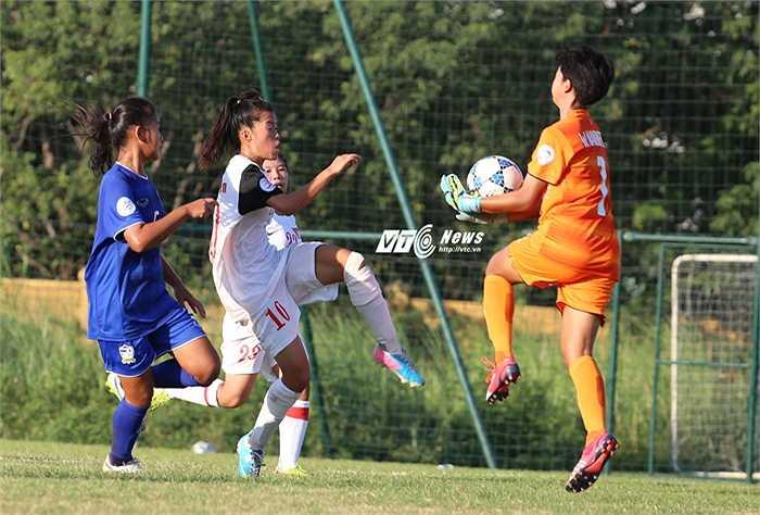 Quãng thời gian còn lại, U14 Việt Nam kiên cường bảo vệ thành quả. (Ảnh: Phạm Thành)