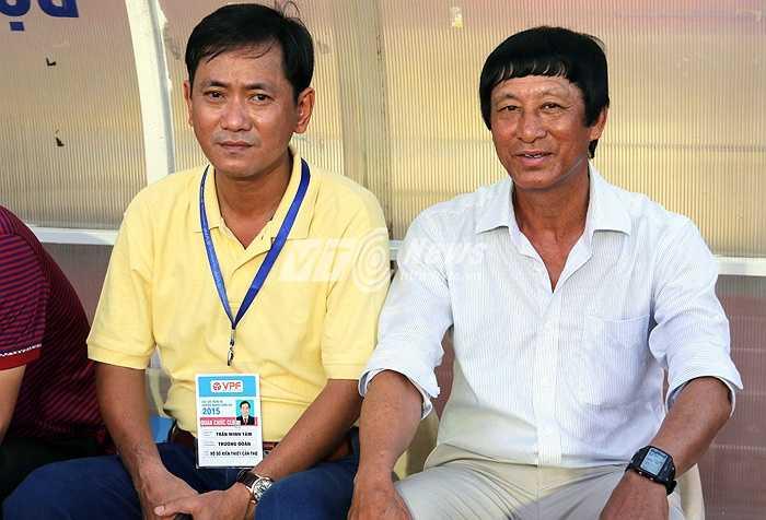 Ông Vũ Quang Bảo mang quân tới Hàng Đẫy đá trận cuối cùng lượt đi V-League 2015 với đội bóng rất mạnh là Hà Nội T&T. (Ảnh: Quang Minh)
