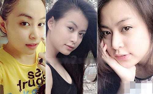 Hoàng Thùy Linh sở hữu khuôn mặt khá bầu bĩnh, làn da mịn màng, không khuyết điểm.