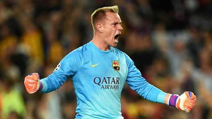 Đứng thứ 10 trong danh sách là người hùng của Barca tại Champions League năm vừa rồi,  Marc-Andre ter Stegen. Thủ môn người Đức cũng có giá 14 triệu euro