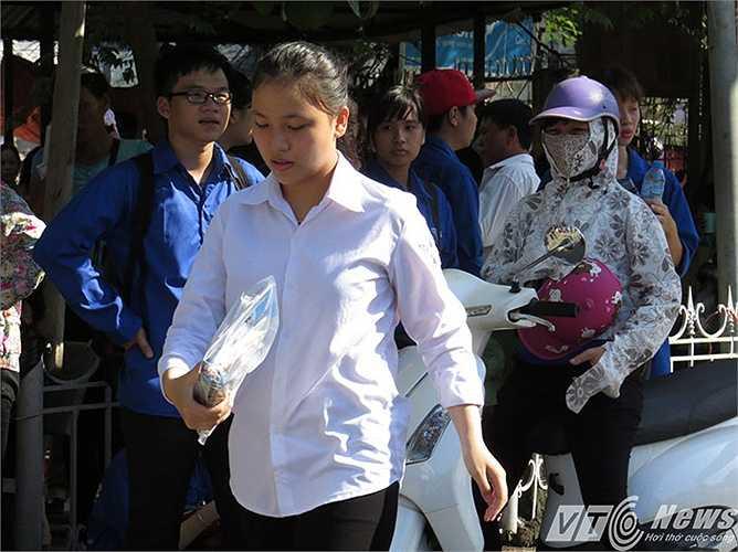 Có thể bạn nữ thí sinh đã nhầm địa chỉ nên đến muộn tại khu B - Trường Đại học Hàng hải Việt Nam.