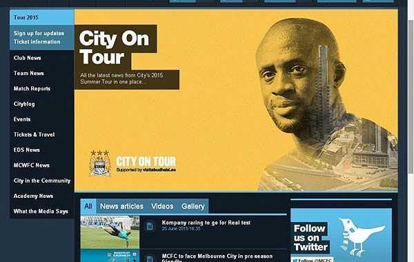 Trên các kênh chính thức của CLB Manchester City bao gồm website và tài khoản mạng xã hội Facebook, Twitter, đến giờ vẫn chưa thông tin về chuyến du đấu tại Việt Nam vào ngày 27/7.