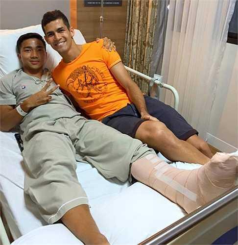 Tiền vệ Chanathip Songkrasin – người được mệnh danh là 'Messi Thái' vừa trải qua phẫu thuật mắt cá chân và sẽ không thể cùng Thái Lan đá trận thứ 3 vòng loại World Cup 2018.
