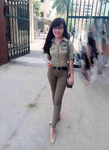 Bức ảnh được Hà My chụp ở cổng Trường ĐH Công nghiệp Hà Nội sau khi tham gia coi thi trong kỳ thi tuyển sinh đại học do ĐH Quốc gia tổ chức.
