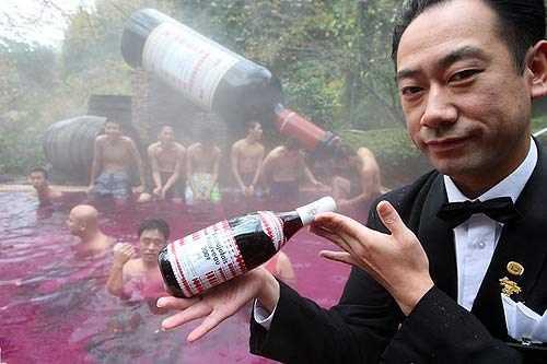 tắm rượu vang