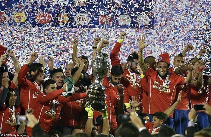 Đánh bại Argentina 4-1 trên chấm phạt đền, Chile lần đầu tiên vô địch Copa America