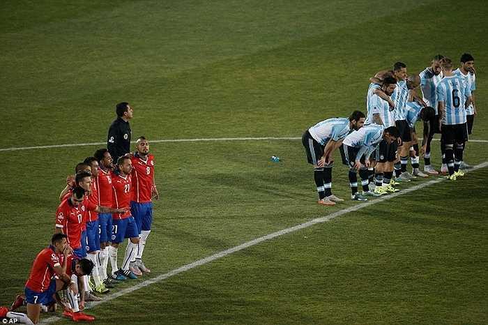 Chính vì vậy, chỉ sau 4 loạt 'đấu súng', Chile đã giành chiến thắng