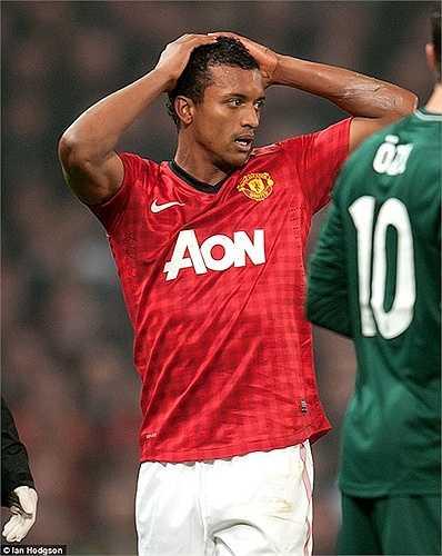 Đóng góp của Nani khá hạn chế, trong khi những sai lầm của tiền vệ này lại không thiếu. Điển hình là tấm thẻ đỏ trong trận đấu với Real Madrid tại Champions League cách đây 2 năm, khiến Quỷ đỏ bị loại