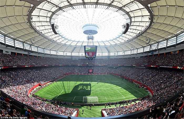 Toàn cảnh sân BC Place ở Vancouver, Canada, nơi diễn ra trận chung kết World Cup 2015