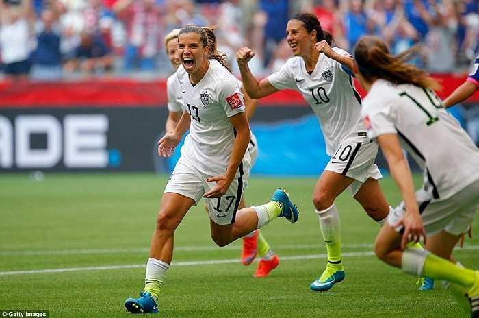 Thắng 5-2, Mỹ lần thứ 3 đăng quang ở World Cup