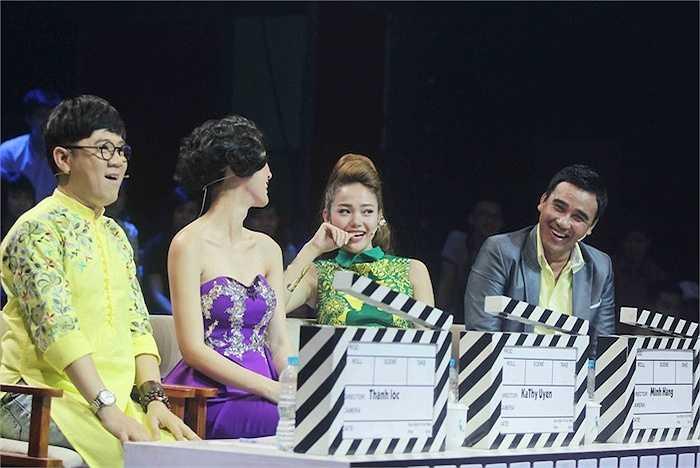 Cùng giữ quyền 'cầm cân nảy mực' với Minh Hằng là Thành Lộc, Kathy Uyên và Quyền Linh.