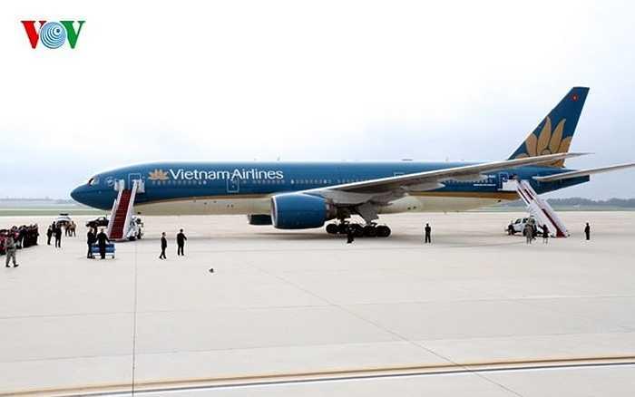 Máy bay đưa Tổng Bí thư và đoàn đại biểu cấp cao đã hạ cánh tại sân bay quân sự Andrews, Washington DC, Hoa Kỳ.