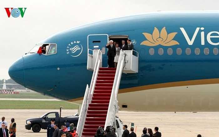 Tổng Bí thư Nguyễn Phú Trọng và đoàn đại biểu cấp cao thăm chính thức Hợp chúng quốc Hoa Kỳ từ ngày 6-10/7/2015.