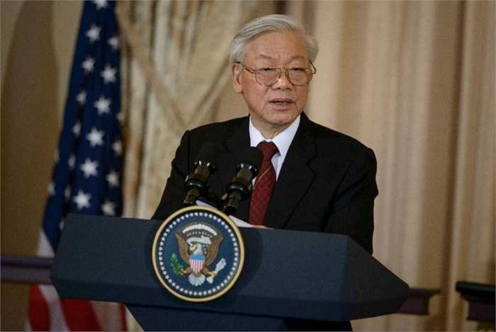 Tổng Bí thư phát biểu trước quan chức và báo giới ở Nhà Trắng