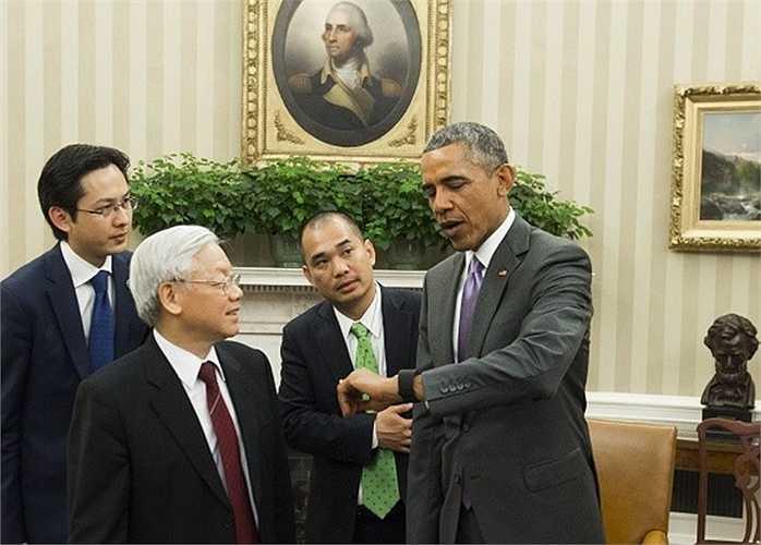 Sau cuộc hội đàm với ông chủ Nhà Trắng, Phó tổng thống Mỹ Joe Biden đã tiếp Tổng Bí thư Nguyễn Phú Trọng và mời tiệc trưa tại Bộ Ngoại giao Mỹ