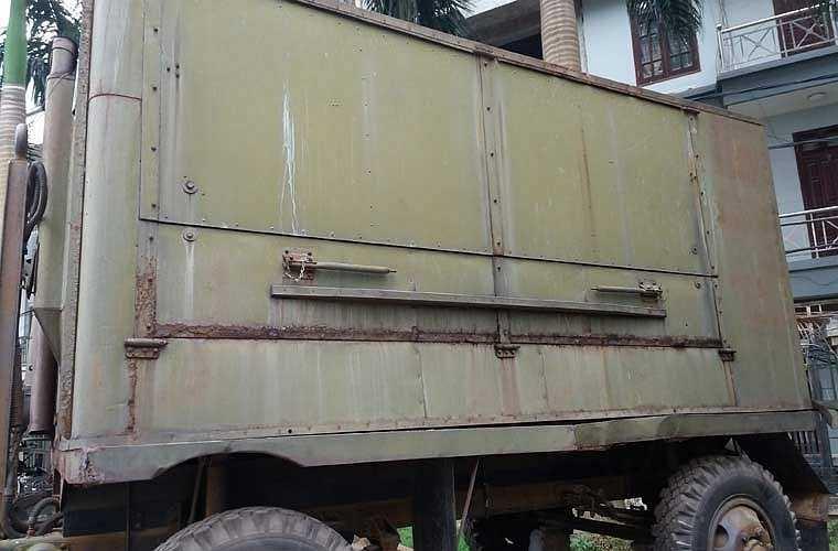 Một loại xe bếp quân sự khác có kết cấu lớn hơn nhiều tại Bảo tàng Hậu Cần.