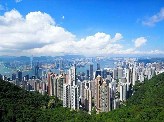 Peak Road, The Peak, Hong Kong: Giá bán 114.000 USD/m2. Đây là con đường xanh rợp bóng mát ở Hong Kong. Con đường này có tổng diện tích nhà lên đến 11.000 m2