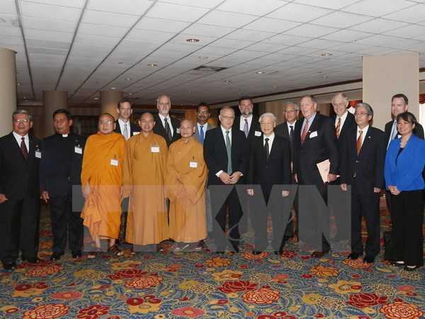 Tổng Bí thư Nguyễn Phú Trọng tiếp các lãnh tụ tôn giáo Hoa Kỳ và đại diện Viện Liên kết Toàn cầu