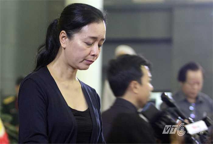 Nghệ sĩ Chiều Xuân không giấu được sự thương tiếc của riêng mình.