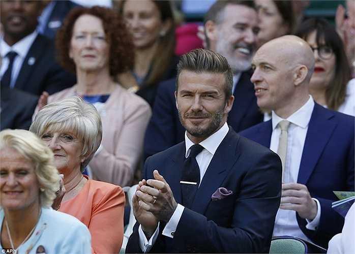 Lịch lãm xuất hiện tại giải Wimblendon, Beckham nhanh chóng thành tâm điểm chú ý