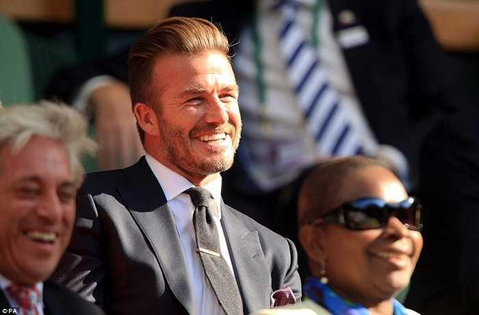 Beckham tỏ ra khá bẽn lẽn và bối rối trước sự khen ngợi