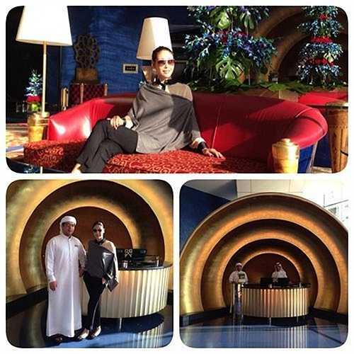 Cô cũng từng nghỉ ở khách sạn 7 sao tại Dubai.