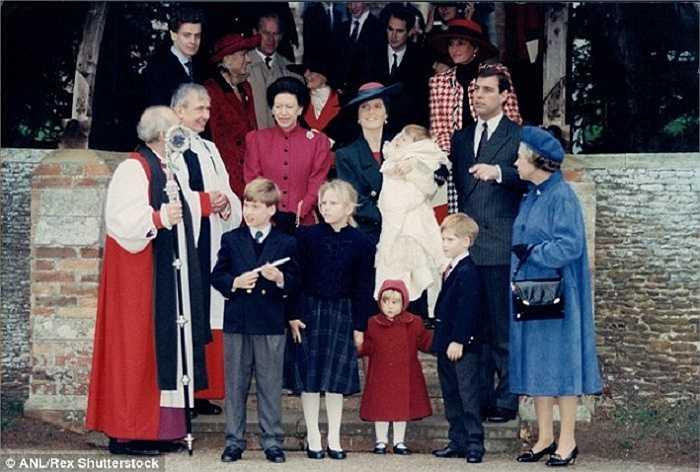 Lễ rửa tội cho Công chúa Eugenie con gái thứ hai của nữ Công tước xứ York Sarah Ferguson và Hoàng tử Andrew