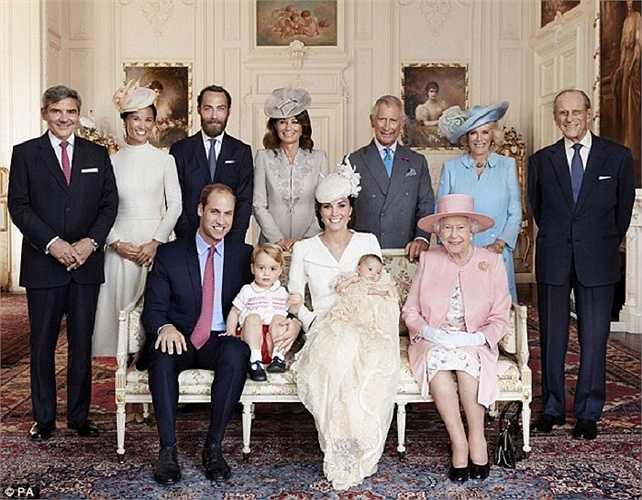 Lễ rửa tội cho Công chúa Charlotte mới sinh của Hoàng gia Anh