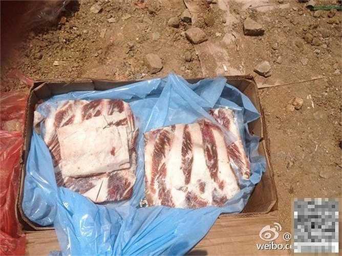 Thịt lợn 40 năm đông lạnh bị đem đi tiêu hủy