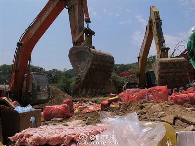 Hơn 670 tấn thịt bị đem tiêu hủy