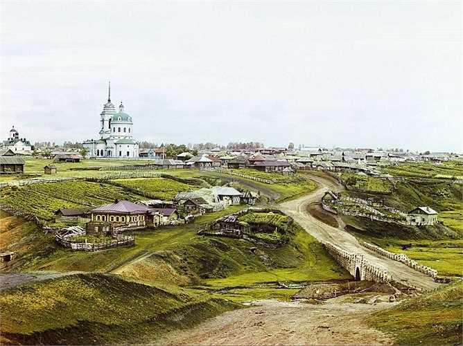 Làng Kolchedan, nằm trong dãy núi Ural gần Ekaterinburg, là trung tâm khai thác sa thạch